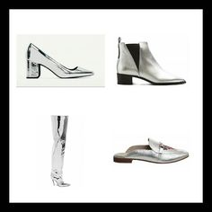 BLOG POST: Metallics is the must-have shoe trend of SS17. Its flash. Its fun.  And thats why we cant get enough of it. Of course metallic footwear is not a new thing.  Trainers have often had a metallic makeover.  And every capsule wardrobe should have a pair of silver AND gold evening heels (honestly they go with everything!) Today were talking silver shoes and youll definitely want to be getting some mileage out of these.  Seriously! How may cool points would you get for rocking a pair of…