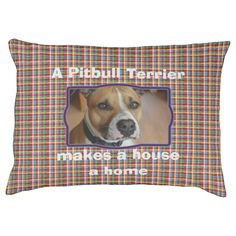 Plaid pattern customizable dog bed - your picture here, add your own text.