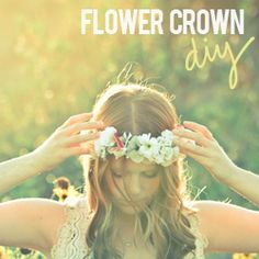 Create your own beautiful flower crown using this easy tutorial.