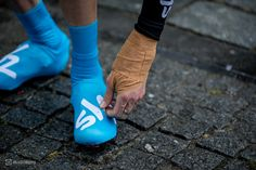 Chris Froome's bandaged hand before the race.