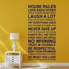 House Rules - English Muursticker bij AllPosters.nl