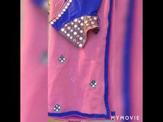 Latest beautiful mirror work designs blouse and saree - YouTube