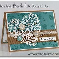 Stampin Up Bloomin Love card by Sandi @ stampinwithsandi.com #stampinup #boominlovestampset #stampinwithsandi #sandimaciver #stampinupcardideas #valentinecardideas