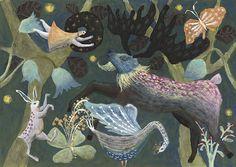 Original Painting Poetry of life by TetsuhiroWakabayashi on Etsy
