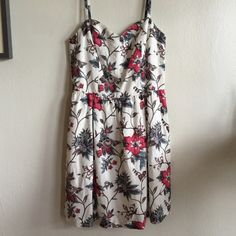 NWT floral LOFT  dress perfect for spring! Love this dress!!!!! Super flattering neckline with a fitted bodice and Aline skirt. LOFT Dresses Midi
