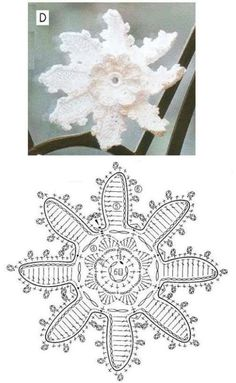 Elizabeth Christianini uploaded this image to 'Croche/FLORES CROCHET'. See the album on Photobucket. Crochet Flower Tutorial, Crochet Diy, Crochet Wool, Form Crochet, Crochet Diagram, Crochet Chart, Crochet Leaf Patterns, Crochet Leaves, Knitted Flowers