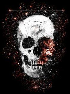 Space Skull by Floris Achterberg, via Behance