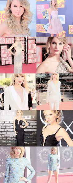 Taylor Swift at the VMA's - 2008/2009/2012/2013/2014