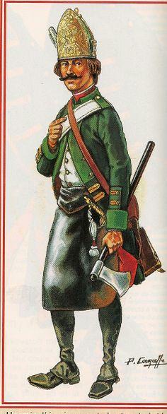 EN 1799, LA INFANTERIA RUSA DE SUVOROV EN ZURICH,