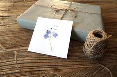 Purple flower greeting card, flower birthday card, pretty greeting card Flower Birthday Cards, Watercolor Christmas Cards, Green Wreath, Wreath Watercolor, Great Friends, Shades Of Purple, Watercolor Illustration, Purple Flowers, Christmas Wreaths