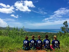 Our Fiji volunteers taking in the view after surveying and water testing in Burewai, Fiji #gvi #volunteer #makeadifference