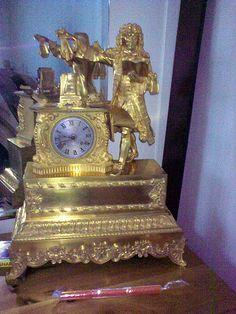 Empire French bronze clock