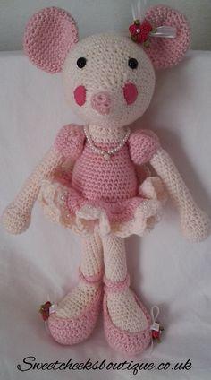 Beautiful Crocheted Ballerina mouse