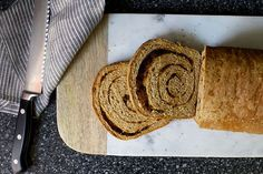 whole-grain cinnamon raisin swirl bread – smitten kitchen. Can also use as regular whole grain loaf. Use ground flaxseed and ground quinoa or BRM 5 grain cereal flour. Use white sugar and add tblsp hi wheat gluten. Beignets, How To Make Bread, Food To Make, Cinnamon Swirl Bread, Cinnamon Rolls, Smitten Kitchen, Sweet Bread, Fresh Bread, Bread Baking