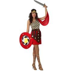Disfraz de Gladiadora Romana Esparta #carnaval #novedades2016 Costume Original, Rome Antique, Disney Characters, Fictional Characters, Disney Princess, Halloween, Products, Templates, Carnival