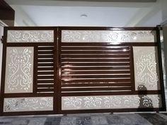 Gate Wall Design, Main Entrance Door Design, House Front Gate, Front Gate Design, Metal Gates Design