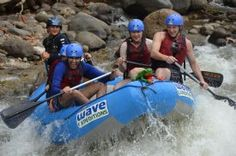 Javi the Frog leading the boat in the rapids, La Fortuna - La Fortuna de San Carlos, Alajuela