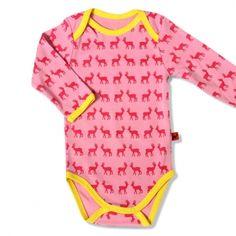 Hjorth Baby Body Hirsche rosa-pink