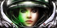 View an image titled 'Medic Promo Art' in our StarCraft II: Wings of Liberty art gallery featuring official character designs, concept art, and promo pictures. Sci Fi Wallpaper, Girl Wallpaper, Mobile Wallpaper, Amazing Wallpaper, Wallpaper Space, Star Wallpaper, Windows 10, Iphone Wallpaper Photography, Entertainment