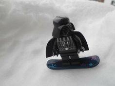 LEGO Star Wars Darth Vader Minifig on Snowboard