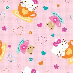 @Joannes Sanrio Hello Kitty Tea Party Fleece Fabric