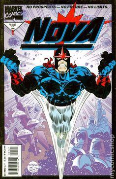 Nova (1994 2nd Series) 1 Marvel Comics Modern Age Comic book covers Super Heroes Villians