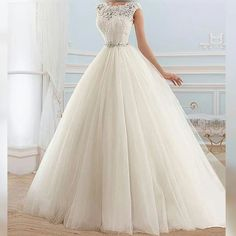 Cheap bridal gown, Buy Quality a-line wedding dress directly from China wedding dress bridal Suppliers: New Hot Sale 2016 Zipper Sash Lace Vintage Simple A-line Wedding Dresses Bridal Gowns vestido de noiva robe de soiree Princess Wedding Dresses, Dream Wedding Dresses, Bridal Dresses, Wedding Gowns, Tulle Wedding, Bridesmaid Dresses, Elegant Wedding, Poofy Wedding Dress, Wedding Hijab