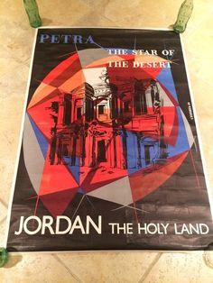 Original Vintage Jordan The Holyland Travel Poster