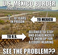 Us-mexico border penalties for illegal immigration