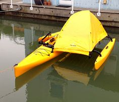 Camping while kayaking. Western Canoeing and Kayaking: Hobie Adventure Island Tent Mod Camping Survival, Camping Gear, Outdoor Camping, Outdoor Gear, Backpacking Meals, Camping Hammock, Ultralight Backpacking, Survival Skills, Camping Shop