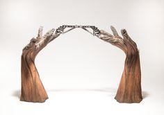 Going Hand In Hand, 8.5″ x 26″ x 15.5″, 2015, (Ceramic, acrylic)
