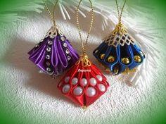 Новогодние игрушки на ёлку своими руками, ёлочные игрушки фонарики канзаши, Лерита. - YouTube