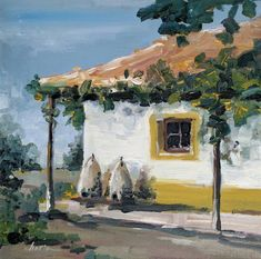 Peace at sunset (Romanian house) Painting Original Paintings, Original Art, Sunset Canvas, Painting Workshop, House Drawing, Impressionism Art, Traditional House, House Painting, Art Oil