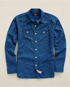 Indigo-Dyed Eaton Workshirt - RRL Standard-Fit - RalphLauren.com