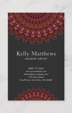 Shop Dark Flower Garden Mandala Business Card created by ZyddArt.