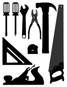 Basic Tools Silhouettes By Algotruneman Set Of Basic Tools In