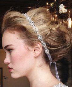 $45 Hanne Crystal Headband - a perfect simple yet chic bridal headband!