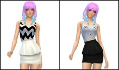 SweetHeart CropTop by Lovelysimmer100 at SimsWorkshop via Sims 4 Updates