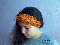 Вяжем оригинальную повязку на голову   Ярмарка Мастеров - ручная работа, handmade