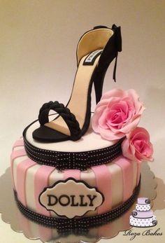 25th Birthday Cakes, Birthday Cakes For Women, Birthday Cake Girls, High Heel Cakes, Shoe Cakes, Cupcake Cakes, Purse Cakes, High Heel Kuchen, Fondant Shoe Tutorial