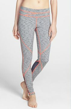 Zella 'Live In - Halo Sunburst' Leggings available at #Nordstrom contrast stitching