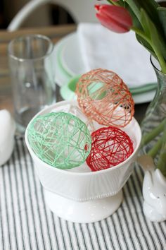 Think Crafts Blog – Craft Ideas and Projects – CreateForLess » Blog Archive » Hollow String Eggs