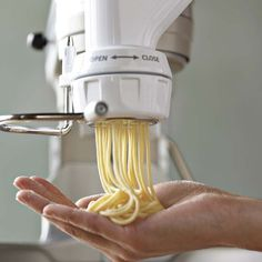 Pasta Extruder attachment for Kitchen Aid mixers--I so want this for Christmas.