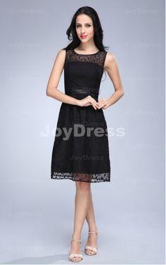 womens going out dresses on Joydress,  Polka Dot A-line Jewel Knee-length Dress