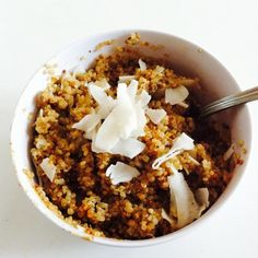 Super-Filling Coconut Almond Quinoa #softfoodrecipes