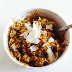 Super-Filling Coconut Almond Quinoa *Use stevia instead of honey