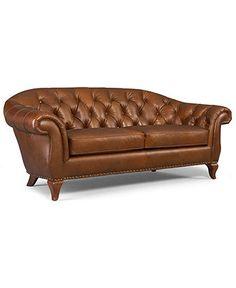 Lauren Ralph Lauren Leather Sofa, Lyndon - Sofas - furniture - Macy's