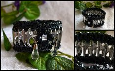 Poptabs ,vhs tape #pop tabs#vhs tape#crochet#bracelet#jewelry#beads#recycle#upcycle