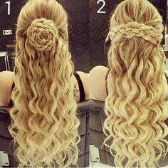 cool New Elegant Designs Of Hair Style Fashion 2015 For Teen Girls - Mihaela Fashion (Cool Teen Hairstyles) Teen Hairstyles, Fancy Hairstyles, Braided Hairstyles, Wedding Hairstyles, Casual Hairstyles, Medium Hairstyles, Professional Hairstyles, Hairstyle Ideas, Coiffure Hair