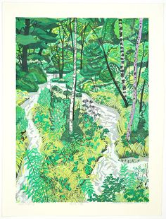laniferous-e: Kitaoka Fumio Creek in the Forest (1984)